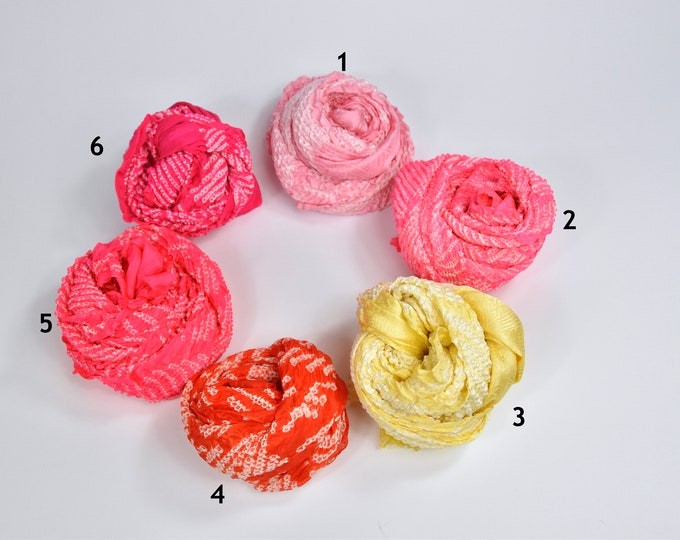 Vintage Scarf Shibori Batik / Japanese silk Kimono Accessory / Hairband / scarf/ present for her/  Belt