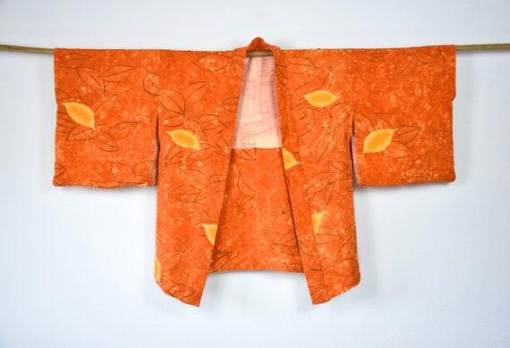Cleaned Original Japanese Vintage Haori in Orange