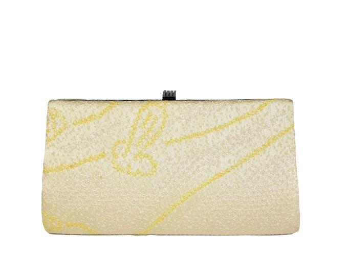 Elegant Clutch / Evening bag silk / Vintage Kimono Silk / Shiori Batik / purple Etui / One of a kind