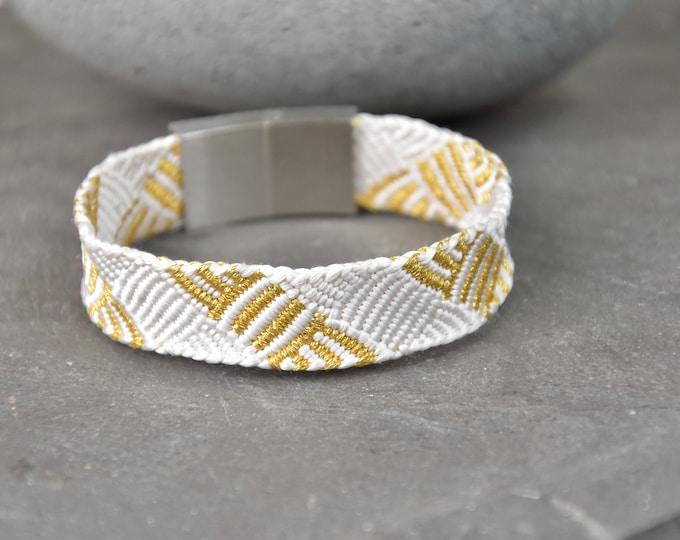 "Bracelet ""Tamaki"", Japanese Vintage Obijime Accessory, Wabi Sabi,  Modern Silk Bangle, Present, Japanese handcraft, Asian Jewelry"