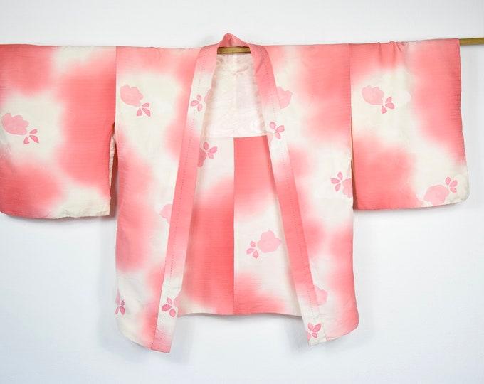 Fashionable Kimono Cardigan, silk Haori, Kimono Jacket, Japanese short Kimono, sustainable fashion,