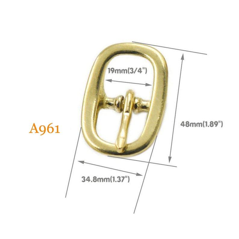 125 Pcs Solid Bras 19mm 25mm 38mm Belt Buckles Clips Waistbelt Straps Knot Clasp Crafts