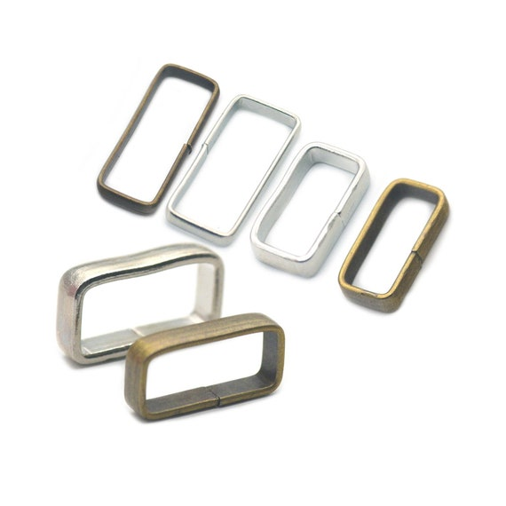 10 Pcs Rectangle Ring No Welded For webbing Belt Ribbon Leather Strap buckles Metal Bronze 1 25mm