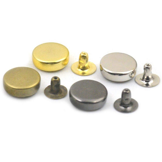 New 100Sets 6mm Round Rivets Rapid Stud Fastening for DIY Leather Clothing Craft