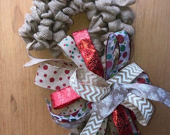 1 Candy Cane Christmas Wreath