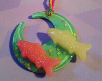 Fish moon necklace
