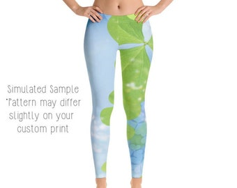 10881dafe3 SHAMROCK LEGGINGS, Yoga Pants, Shamrocks, Four leaf clover, Luck, Lucky,  Irish, St Patty's day, Kids, Youth, Capri, Plus -StPatrick's2