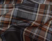 Taffeta-fabric silk matt 81802 with diamonds in dark brown black