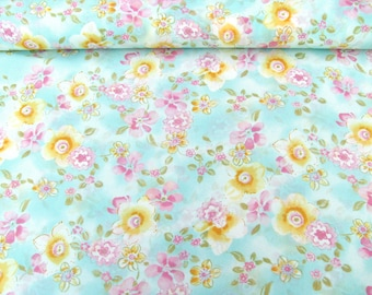 Georgette 801103 in light blue with floral print