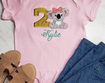 Blushing glitter lashes girl Koala Snacks and Naps Watercolor Toddler Tee or Infant Baby onsie shirt gold
