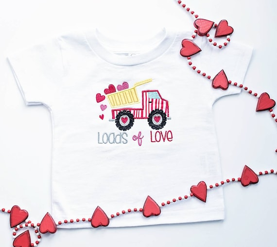 25b8590d8 Loads of love embroidered baby bodysuit/boys Valentine's | Etsy