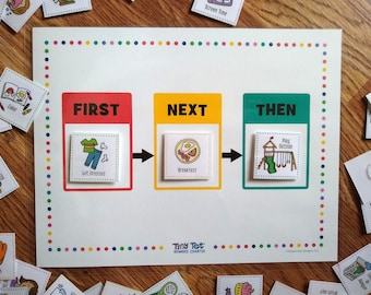 First, Next, Then Transition Board (Includes 72 Routine and Activity Cards), First/Next/Then Sequence Chart, Kids Expectation Task Chart