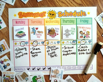 Summer Themed Schedule & 48 Cards