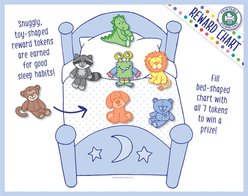 Stay In My Bed All Night Reward Chart for Boys Printable image 0