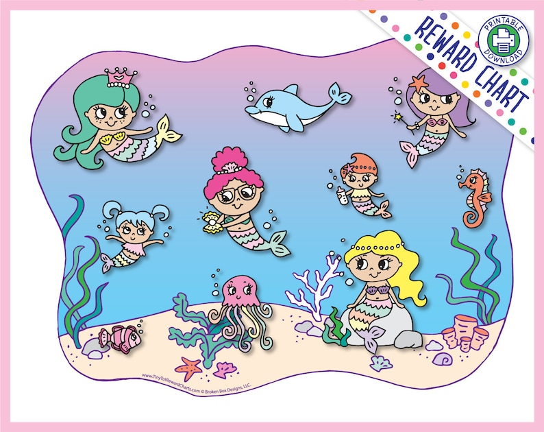 Mermaid Reward Chart Printable Download image 0