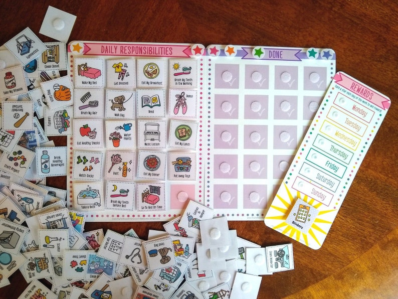 Responsibilities & Rewards Visual Chart For Girls 188 cards image 0