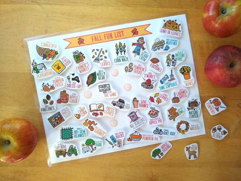 Fall Fun List & 44 Activity Cards image 0
