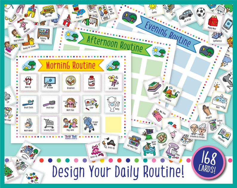 Printable Daily Visual Schedule 168 Routine and Activity image 0