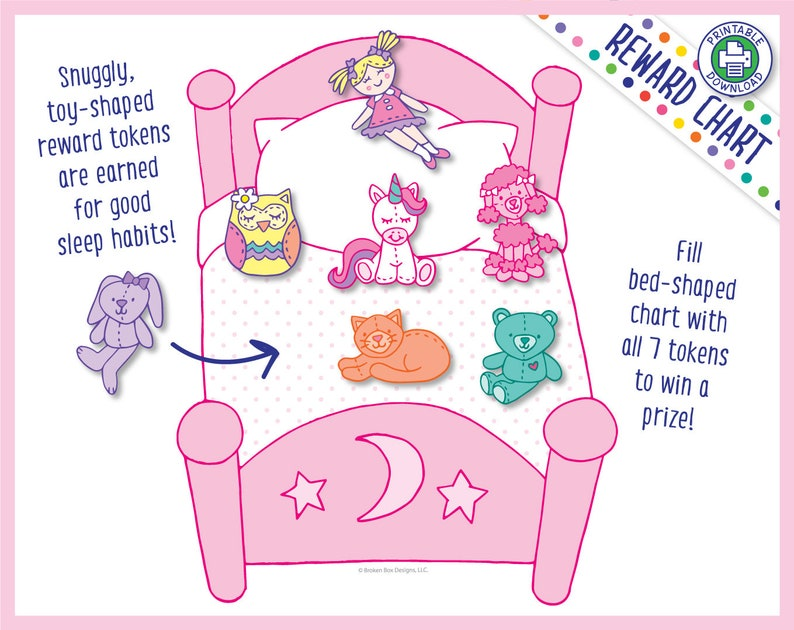 Stay In My Bed All Night Reward Chart for Girls Printable image 0