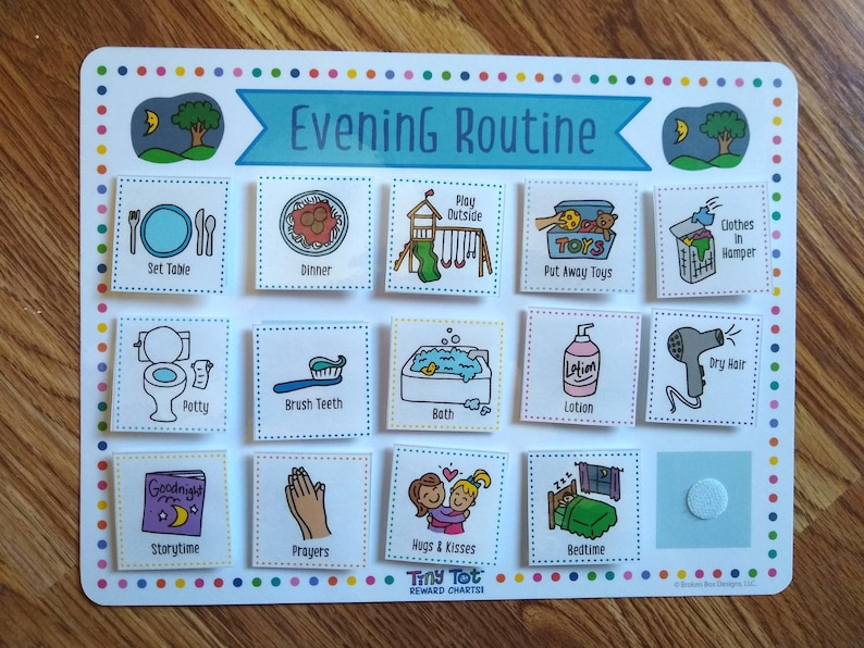 Daily Visual Schedule Includes Charts 120 Routine and Activity Cards