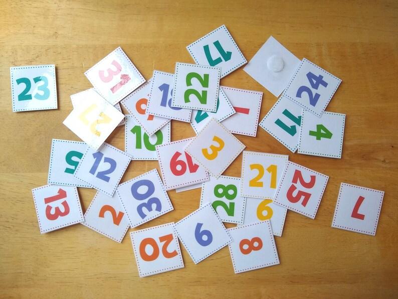 Calendar Number Cards 1-31 image 0
