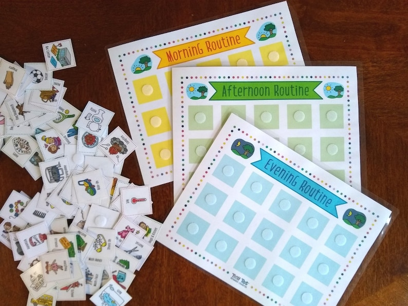 Daily Visual Schedule 168 Routine and Activity Cards image 0