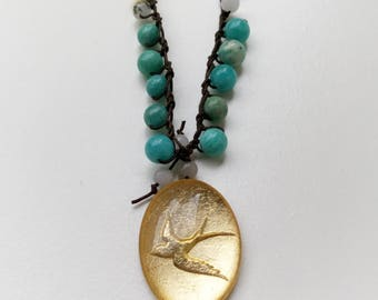 Golden Swallow Necklace