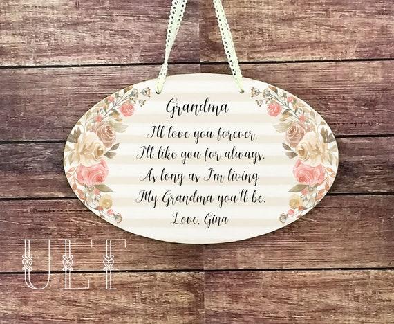 Grandma Gift Personalized Christmas Birthday