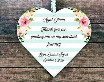 Confirmation sponsor Gift for confirmation sponsor Personalized Confirmation Sponsor frame Godmother gift personalized Aunt gift Teacher gif