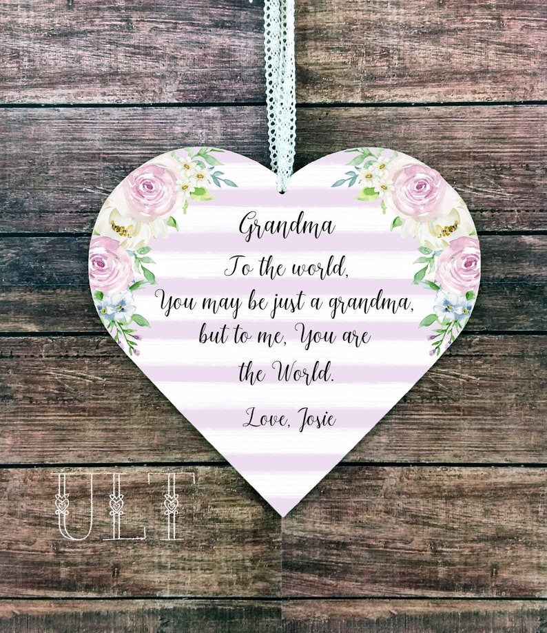 Grandma Christmas Gift Personalized Birthday From Granddaughter Ideas Grandson New