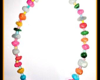 Rainbow Brite Toggle Necklace