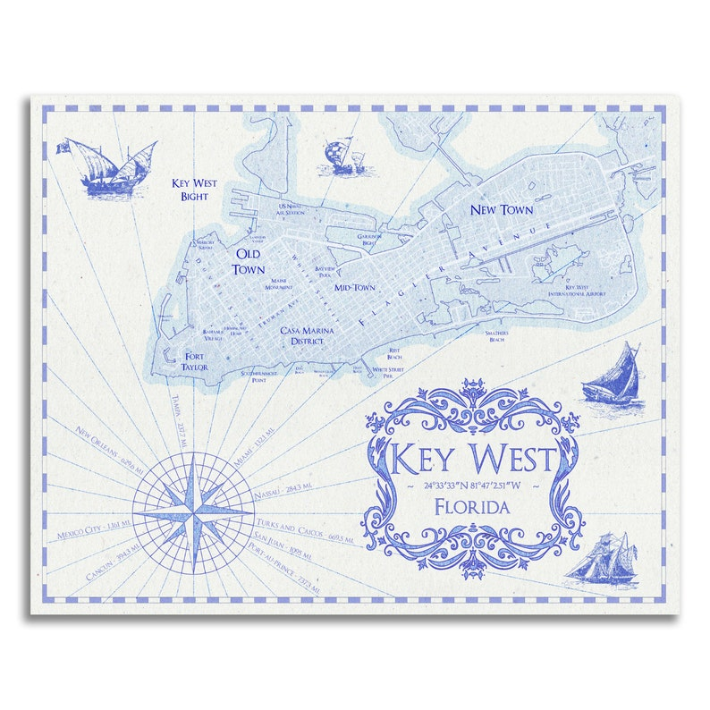 photograph regarding Printable Map of Key West identified as Mystery West Artwork - Most important West Map - Primary West Print - Basic Design Map Print - Top secret West Decor - Drive Decor - Wall Artwork - Generate Artwork