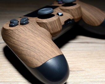 49f0ccbcb5f PlayStation 4 controller - Wood Grain + interchangeable joysticks (Custom  PS4 Controller)