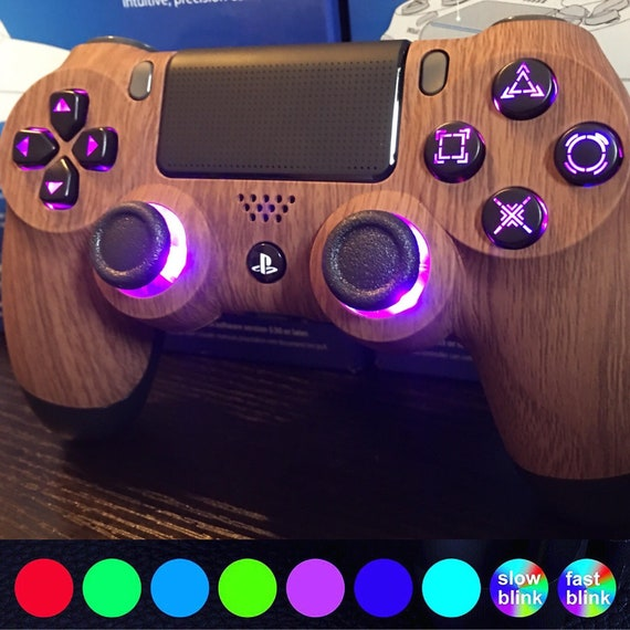Custom PS4 Controller with LED color changing buttons 7 | Etsy