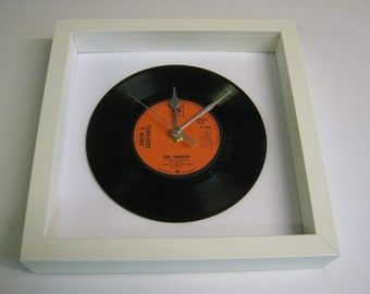 Simon & Garfunkel - Mrs. Robinson - Framed Vinyl Record Wall Clock Gift