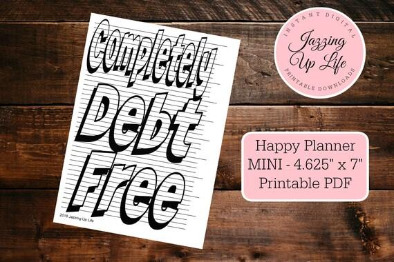 Calendar Happy Planner Agenda Dave Ramsey Debt Tracker Planner Sticker Snowball Erin Condren