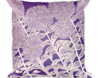 Eye Dig A Purple Day by Jennifer Gregory Portz - Art Pillow