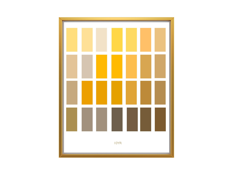 Munsell Chart Art / Archaeology Print/Color Wheel Art / Yellow Art ...