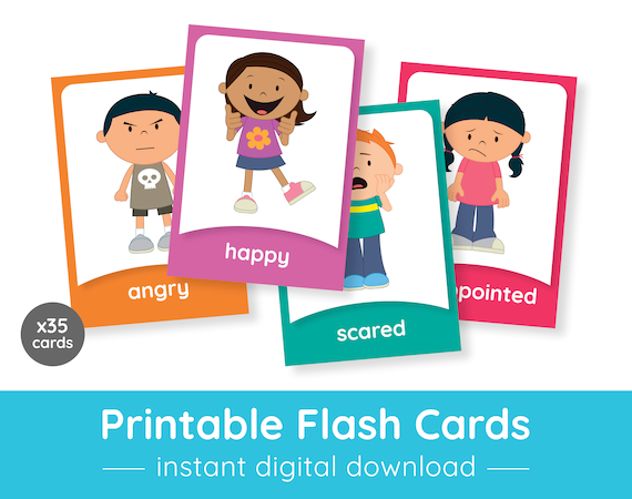 picture regarding Printable Emotions Cards named Feelings Flash Playing cards Printable Flash Playing cards for Infants Printable Flash Playing cards Printables for Preschool, Kindergarten, Homeschool