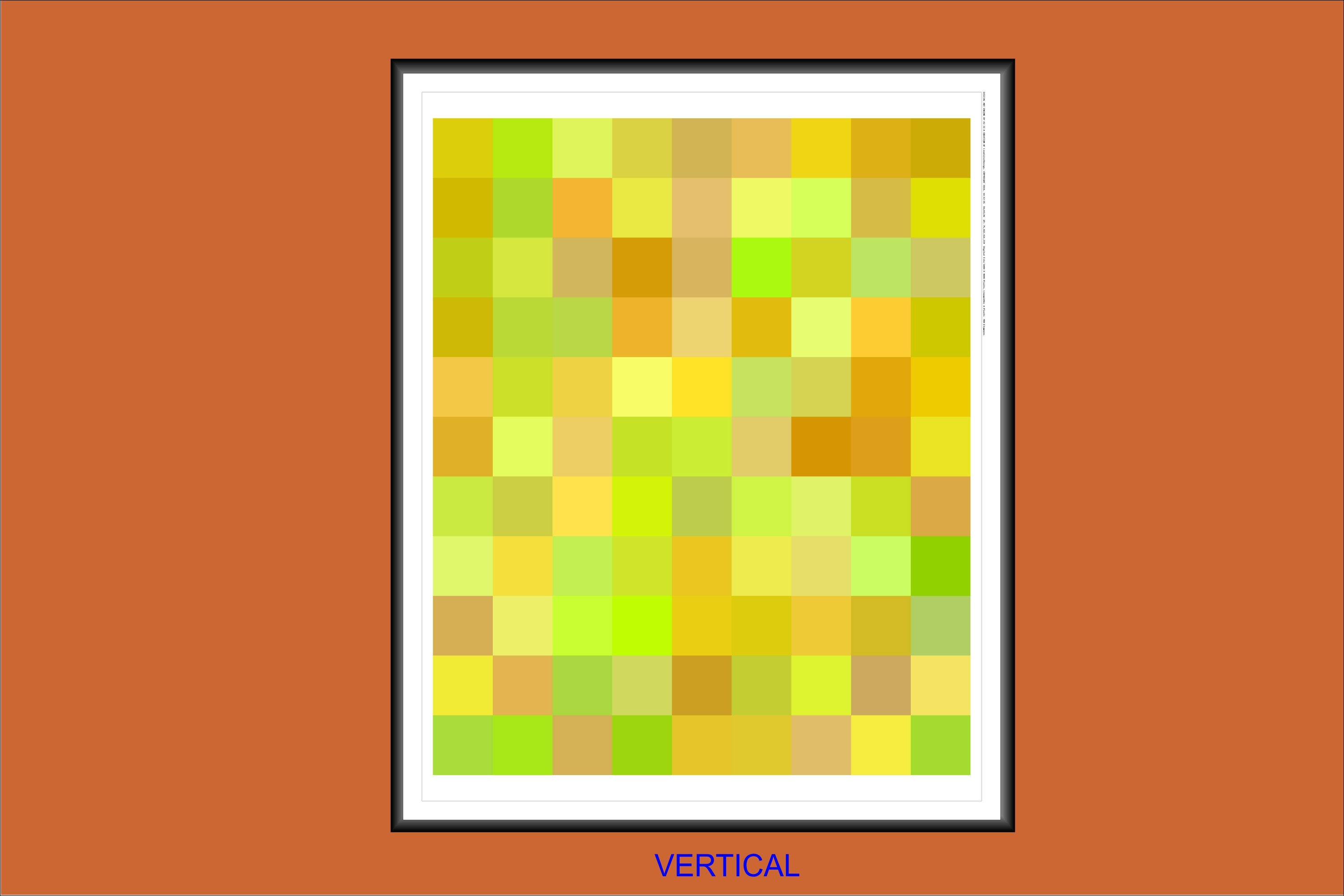 Pixel Art 16x20 Inch Geometric Harvest Colors Art Print A Colorful Piece Of Computer Art For A Creative Home Or Work Space 16x20138