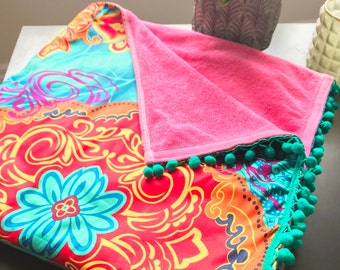 58c645ad98f Handmade Beach Towels, Pompoms Beach Towels, Colourful and Unique Beach  Towels, Outdoor Towels 63
