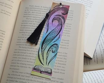 Beautiful Handmade Open Book Bookmark