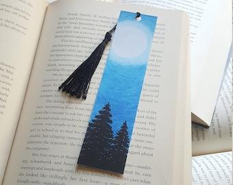 Beautiful Handmade Forest Night Bookmark