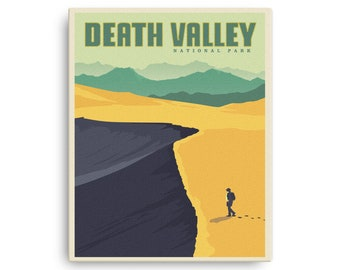 Death Valley National Park   Vintage Travel Poster   Canvas (16x20in)