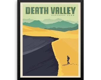 Death Valley National Park   Vintage Travel Poster   Framed