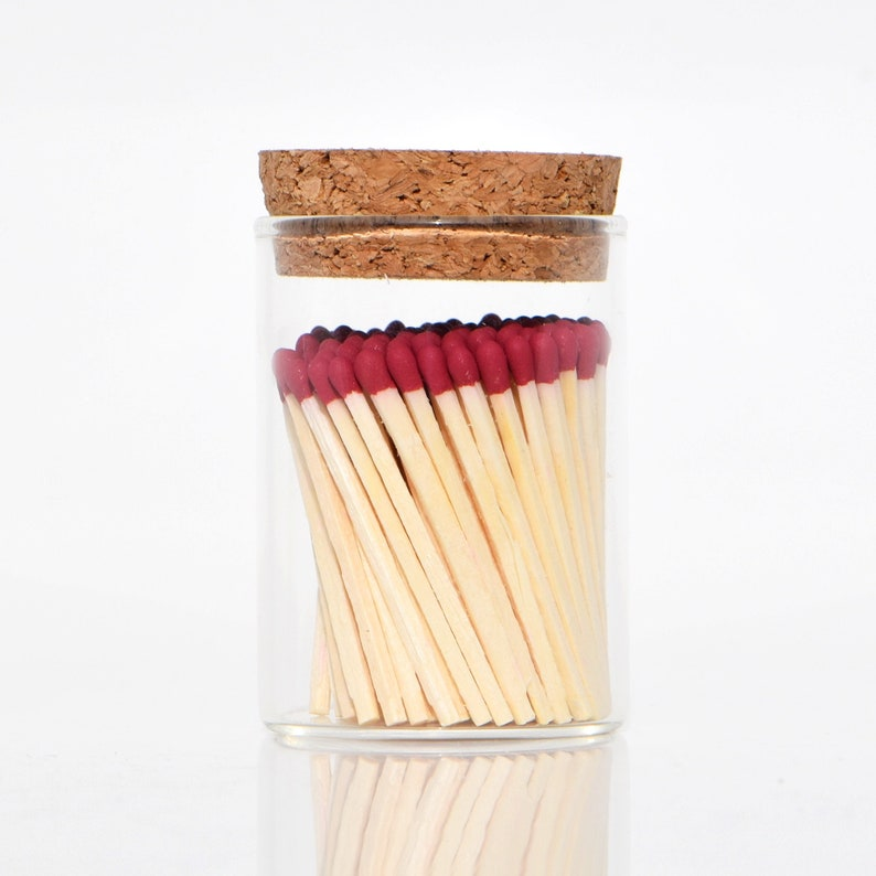 Merlot Red Color Tip Safety Matches and Striker in Modern image 0