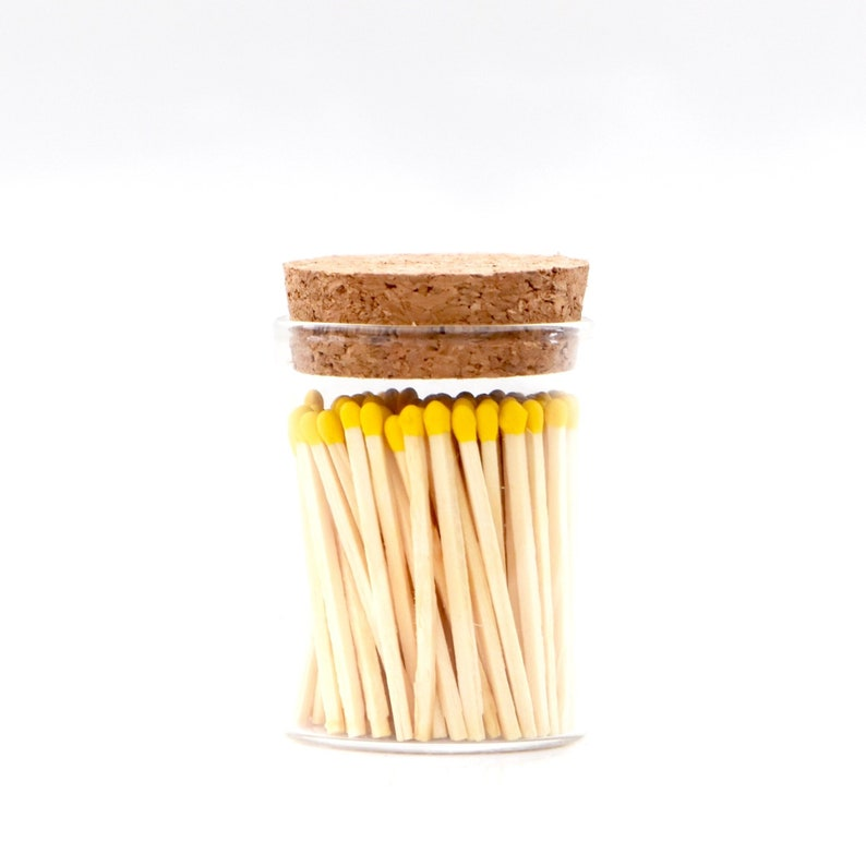 Pineapple Yellow Color Tip Safety Matches and Striker in image 0