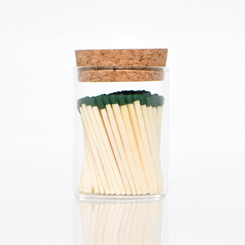 Sacramento Green Color Tip Safety Matches and Striker in image 0