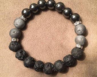 Hematite grounding bracelet