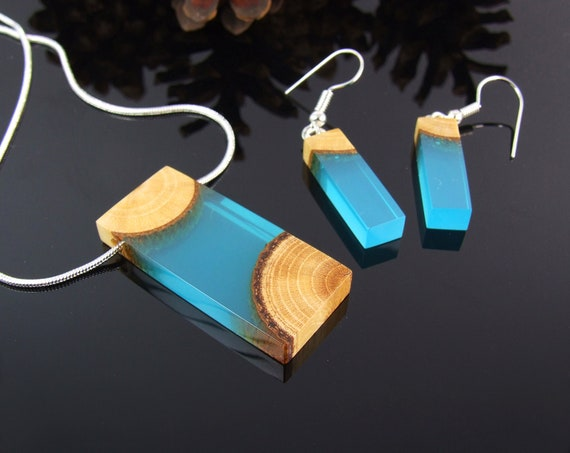 resin jewelry set,Wood Resin Pendant,Resin Earrings,jewellery wooden jewelry set wood resin jewelry set